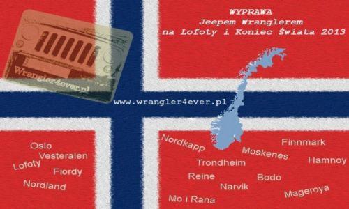 NORWEGIA / Lofoty, Finnmark, Nordland / Hamnoy, Nordkapp, Knievskjellodden / Logo naszej wyprawy