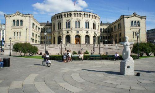Zdjecie NORWEGIA / Oslo / Oslo / Stortinget (Norweski Parlament)