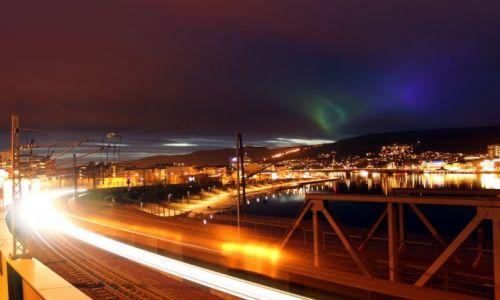 Zdjęcie NORWEGIA / Buskerud / Drammen / Drammen - Zorza Polarna