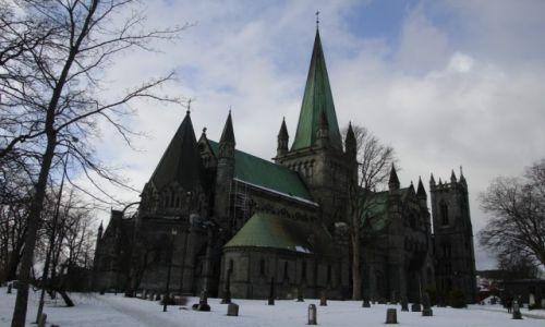 Zdjecie NORWEGIA / Trondelag / Trondheim / Trondheim - Katedra