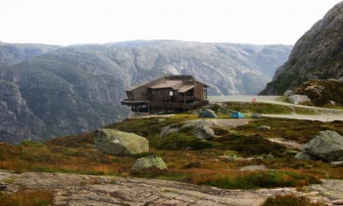 Zdjecie NORWEGIA / Lysefjord / Lysefjord / KJERAG-restauracja