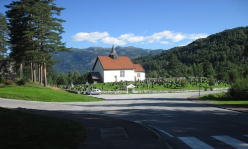 NORWEGIA / Telemark / Seljord / Norwegia 2013 - Seljord - kościół