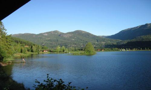 NORWEGIA / Telemark / Seljord / Norwegia 2013 - Seljord - jezioro