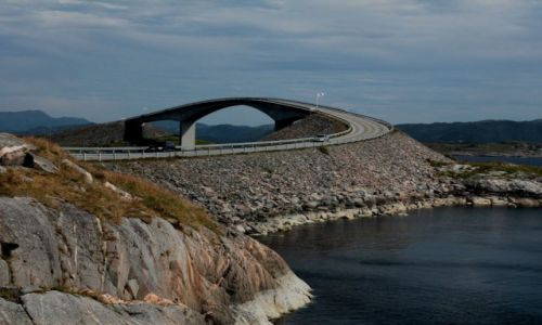 Zdjecie NORWEGIA / Romsdal / Atlanterhavsveien / Atlantic Ocean Road