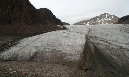 NORWEGIA / Svalbard / Czo�o lodowca Sfen / Czo�o lodowca czy autrostrada