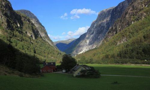 NORWEGIA / Stalheim / Droga Stalheimkleiva /  Dolina Nærøy