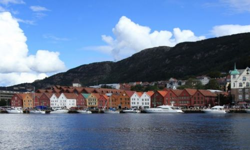 NORWEGIA / Bergen / Bryggen / Zabytkowa dzielnica