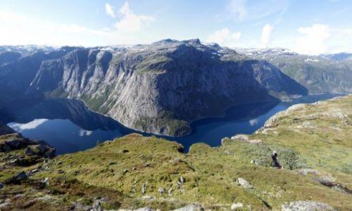 Zdjęcie NORWEGIA / Odda / szlak / w drodze na Trolltunge