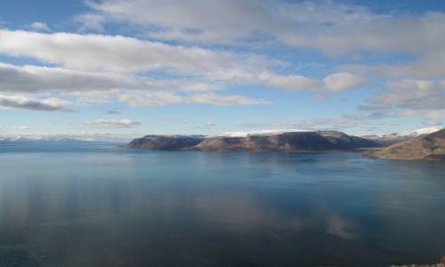 NORWEGIA / Svalbard / Widok z Vordiego na Istfiord / Kolory Svalbardu