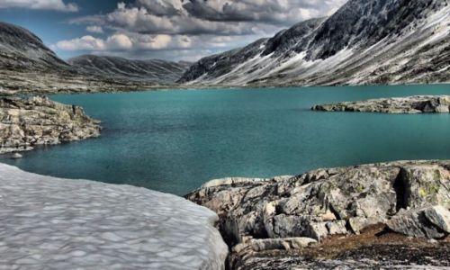 Zdjecie NORWEGIA / Reinheimen Park Narodowy / Green Lake / Lato po zimie
