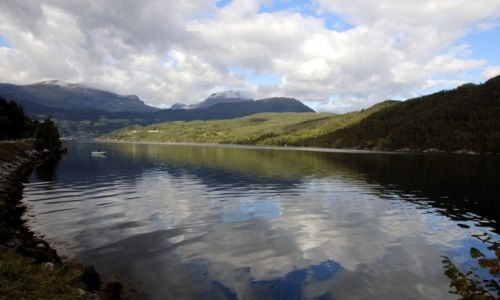 Zdjecie NORWEGIA / Hordaland / Ulvik kommune / Ulvikafjorden