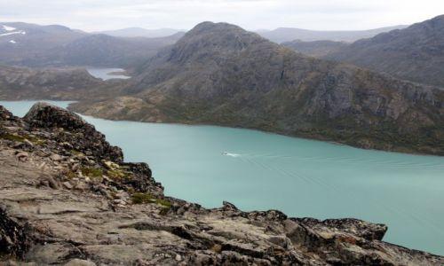 Zdjecie NORWEGIA / Oppland / Besseggen / Jezioro Gjende