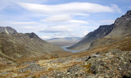 Zdjecie NORWEGIA / Oppland / Besseggen / Jezioro Russvatnet