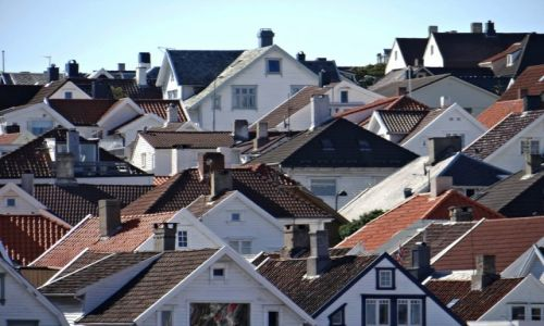 Zdjecie NORWEGIA / Rogaland / Stavanger / Nad dachami