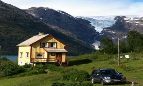 Zdjecie NORWEGIA / północna Noerwegia / okolice Alty / w górach lodowiec