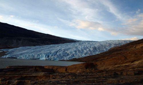 Zdjecie NORWEGIA / północna Norwegia / okolice Mo i Rana / w górach lodowiec
