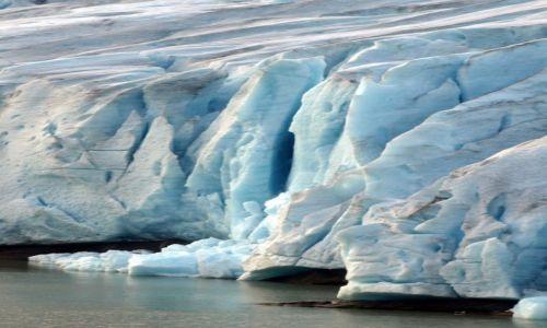Zdjęcie NORWEGIA / północna Norwegia / okolice Mo i Rana / w górach lodowiec