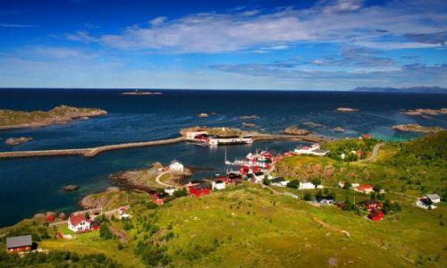 NORWEGIA / Vesterålen / Stø / Wioska rybacka Stø