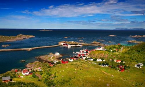 Zdjecie NORWEGIA / Vesterålen / Stø / Wioska rybacka Stø