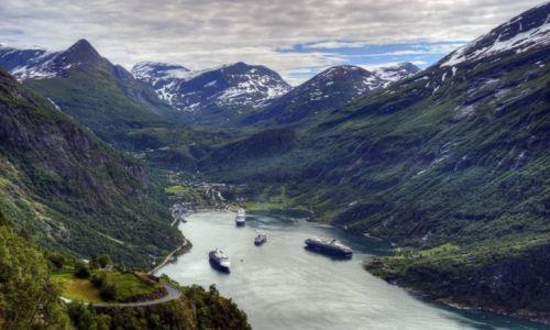 Zdjęcie NORWEGIA / Møre og Romsdal / Geirangerfjord / Geirangerfjord,