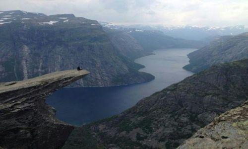 Zdjęcie NORWEGIA / Odda / Hardangervidda / Trolltunga