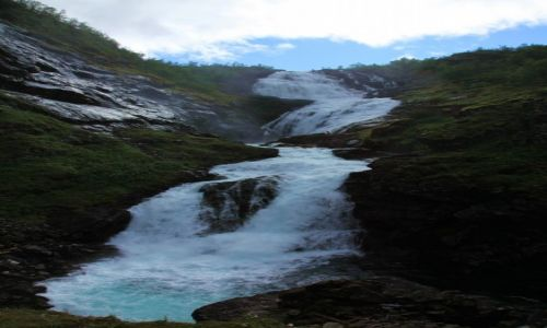 Zdjecie NORWEGIA / Sogn og Fjordane / Aurland / Wodospad Kjosfossen