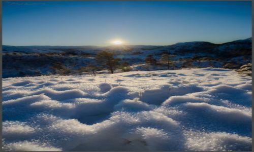 Zdjecie NORWEGIA / Hordaland / Gullbotn / Zimowy krajobraz