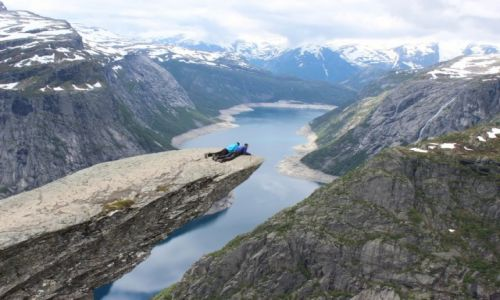 Zdjecie NORWEGIA / Zachodnia norwegia / Trolltunga / Trolltunga-tzw język trolla