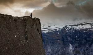 Zdjęcie NORWEGIA / trolltunga / trolltunga / norweskie klimaty