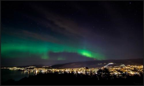 Zdjecie NORWEGIA / Hordaland / Bergen / Zorza w Bergen