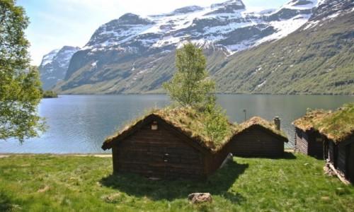 NORWEGIA / Sogn og Fjordane / Loen / chatki...