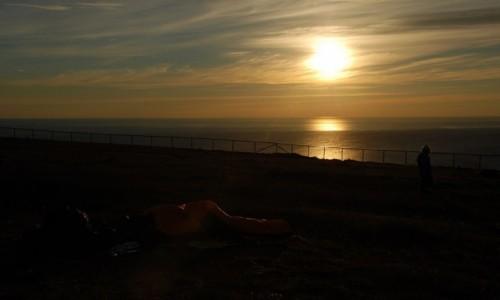 NORWEGIA / Finmark / Nordkapp / Biwak pod gołym niebem na północnym krańcu Europy