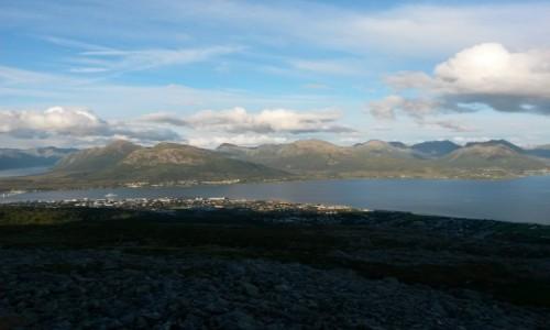Zdjecie NORWEGIA / p�nocna Norwegia / Sortland / Widok z g�ry