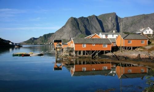 Zdjęcie NORWEGIA / Lofoty / Sakrisøy / Sakrisøy rorbuer