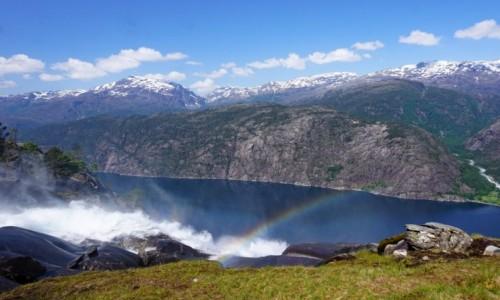 Zdjęcie NORWEGIA / Hordaland / W okolicach Oddy / Langefossen z2