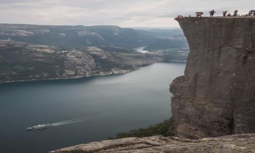 Zdjecie NORWEGIA / p�n. Norwegia / Preikestolen / Kolumna ambony