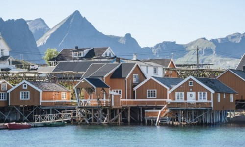 NORWEGIA / p�n. Norwegia / Sakrisøy / Sakrisøy