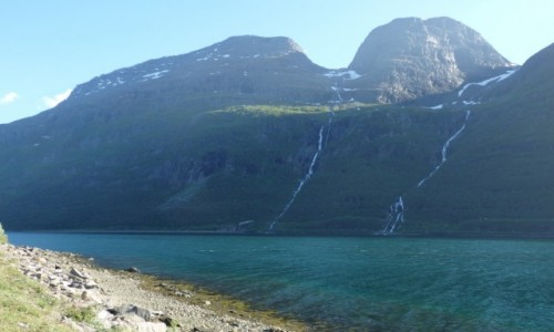 NORWEGIA / Norwegia północna / między Altą , a Lofotami / Pólnocny fiord