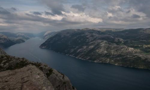Zdjęcie NORWEGIA / płn. Norwegia / Preikestolen / Widok z Preikestolen