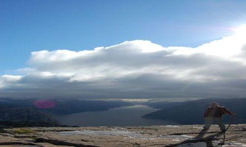 Zdjecie NORWEGIA / w pobliżu Stavanger, Tau / Preikestolen / magiczna Preikestolen (Pulpit Rock)