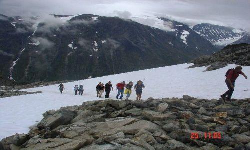 Zdjecie NORWEGIA / Góry Jotunheimen / Galdhopiggen 2469 m npm / Wspinaczka na G