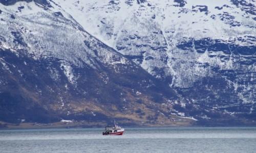 Zdjęcie NORWEGIA / Troms / Lyngen Alpene / Statek