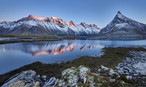 Zdjęcie NORWEGIA / Lofoty / okolice Fredvang / Konczy sie dzien