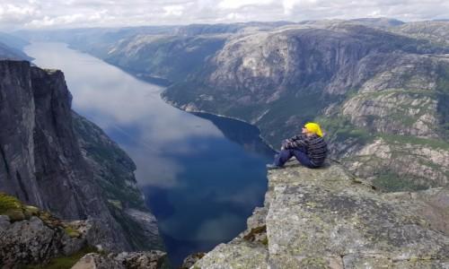 Zdjecie NORWEGIA / Rogaland / Kjerag / Lysefiorden