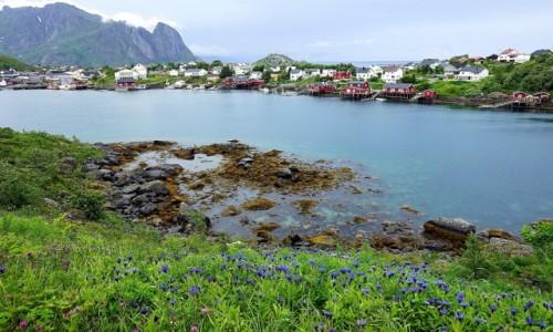 Zdjęcie NORWEGIA / Lofoty / Reine / Trzy błękity