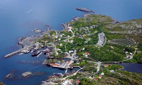 Zdjecie NORWEGIA / Lofoty / Gora Tindstind, Wyspa Moskenesoya / Å
