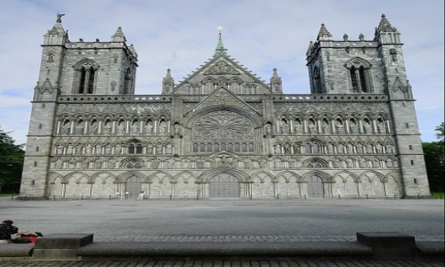Zdjecie NORWEGIA / Trøndelag / Trondheim / Katedra Nidarosdomen