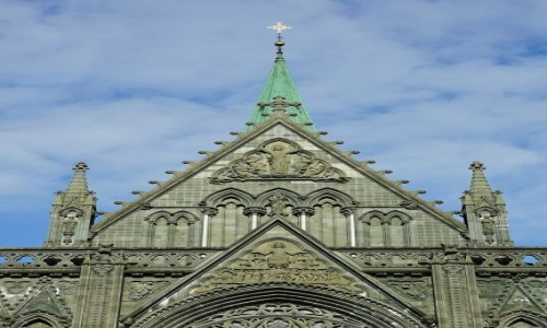 Zdjecie NORWEGIA / Trøndelag / Trondheim / Katedra Nidarosdomen, detale