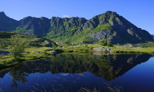 Zdjęcie NORWEGIA / Lofoty / Å / Góra Tjeldbergtind
