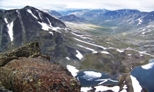 Zdjęcie NORWEGIA / Jotunheimen / Kyrkja / Widok z góry Kyrkja